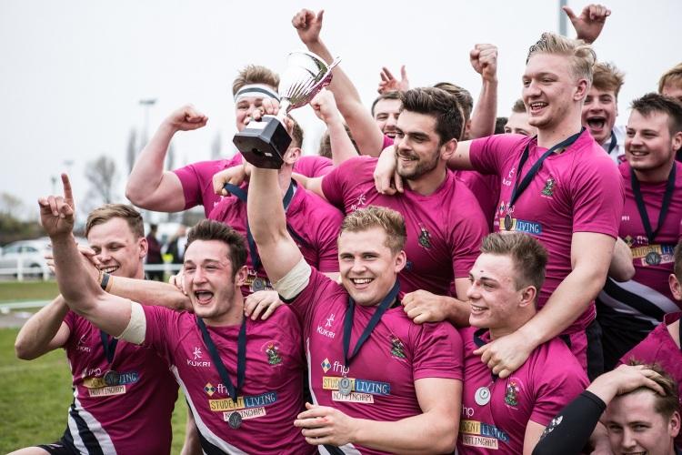 Men's Rugby celebrate winning Varsity 2016